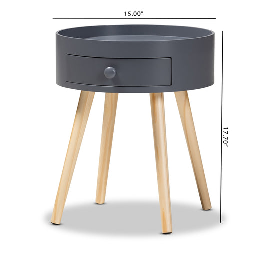Jessen Mid-Century (1-Drawer) Wood Nightstand
