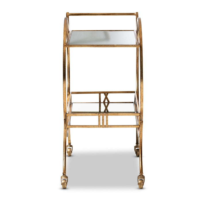 Arsene Contemporary Metal Bar Cart