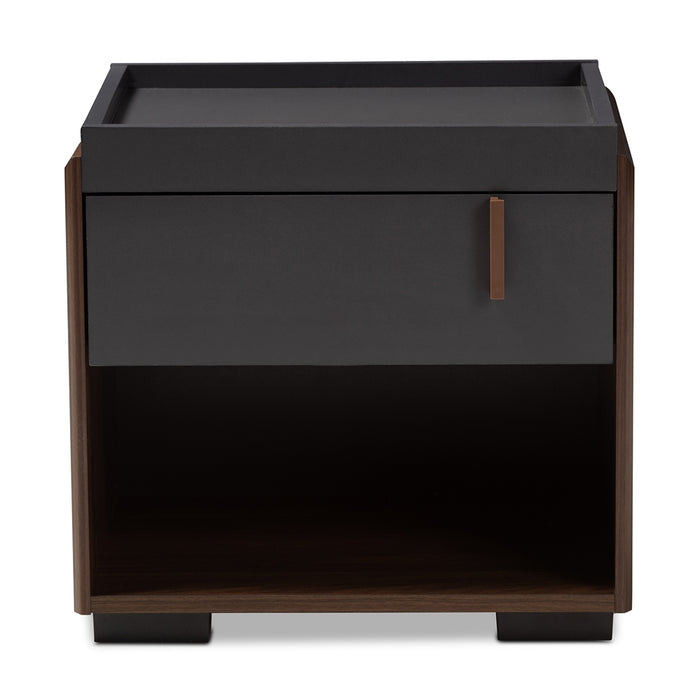 Rikke Contemporary 1-Drawer Wood Nightstand