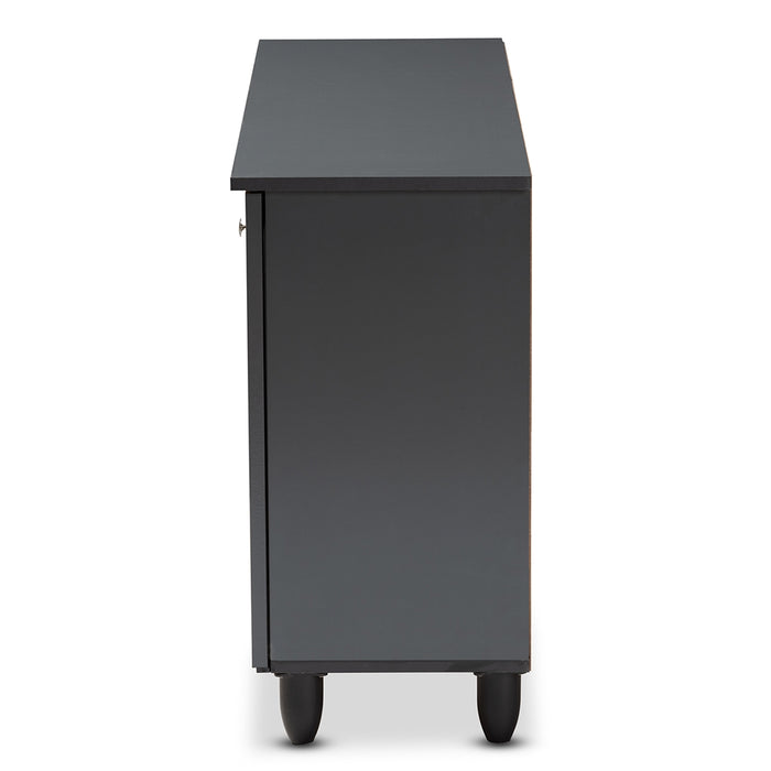 Fernanda Contemporary (3-Door) Wood Shoe Cabinet