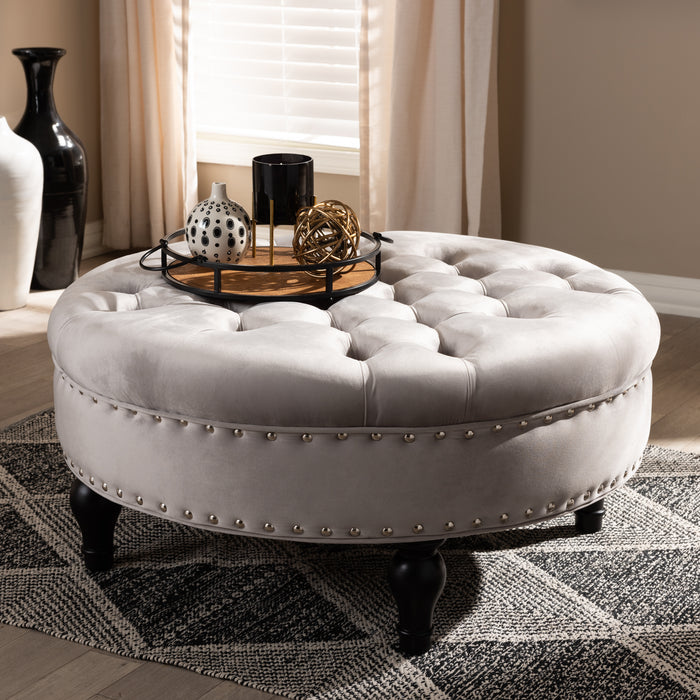 Palfrey Traditional Tufted Cocktail Ottoman