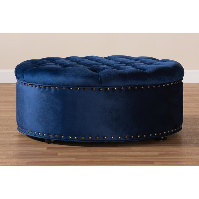 Iglehart Contemporary Tufted Cocktail Ottoman
