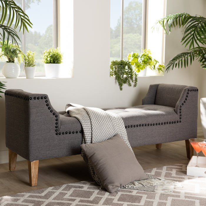 Perret Contemporary Linen Bench