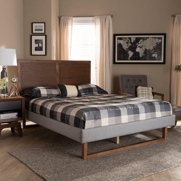 Eloise Rustic Wood Platform Bed