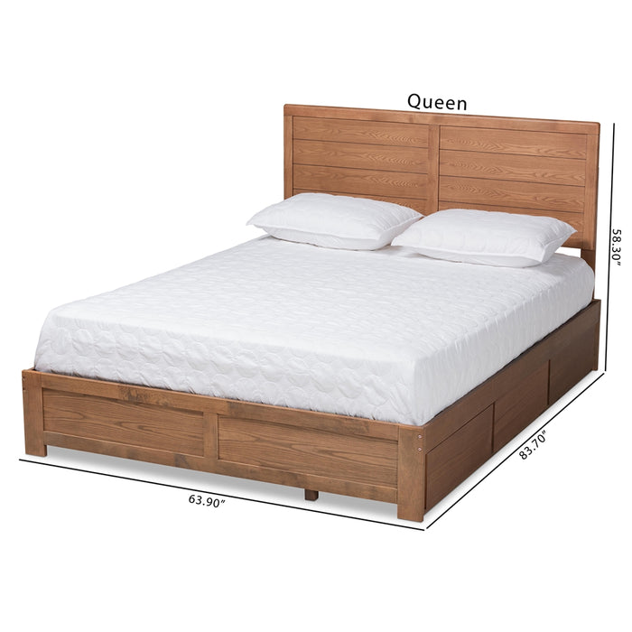 Lisa Modern Wood Platform Storage Bed