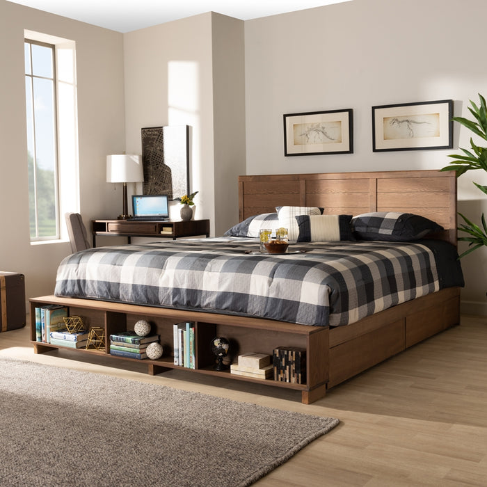 Alba Modern Wood  Platform Storage Bed