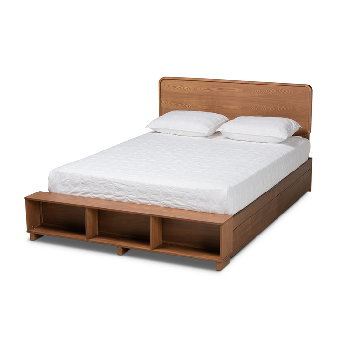 Vita Modern Wood Platform Storage Bed