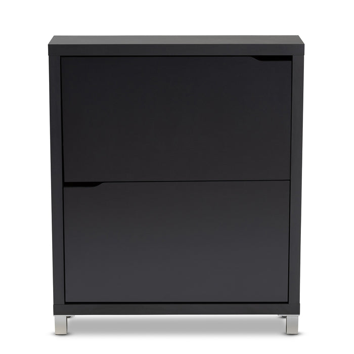 Simms Contemporary 4 Fold-Out Racks Wood Shoe Cabinet