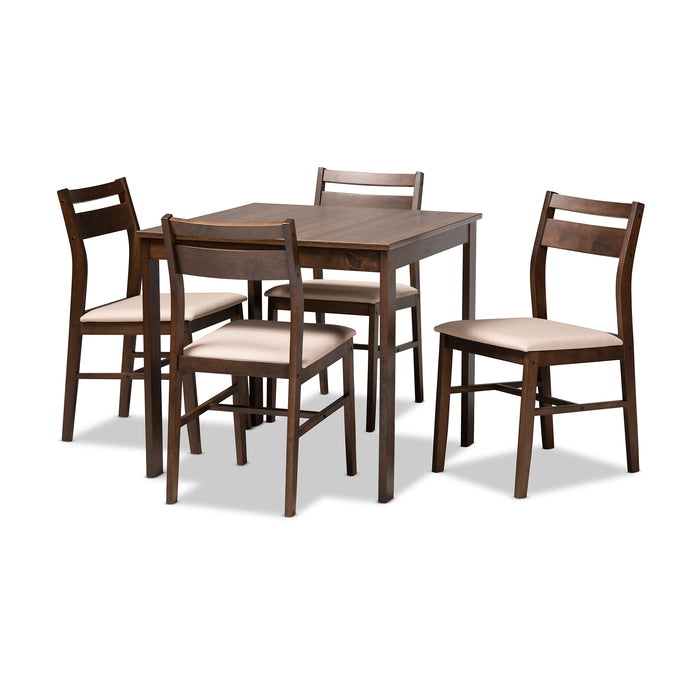Lovy Contemporary Wood 5-Piece Dining Set