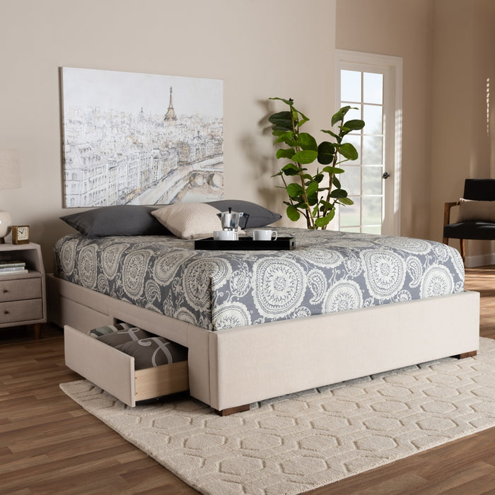 Leni Contemporary Storage Bed Frame