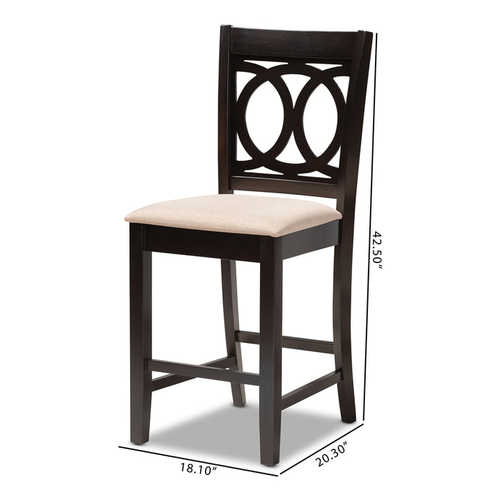 Lenoir Contemporary Wood Counter Stool
