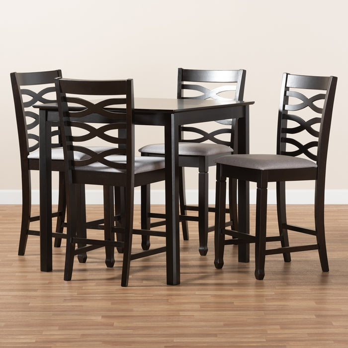 Lanier Contemporary 5-Piece Wood Pub Set