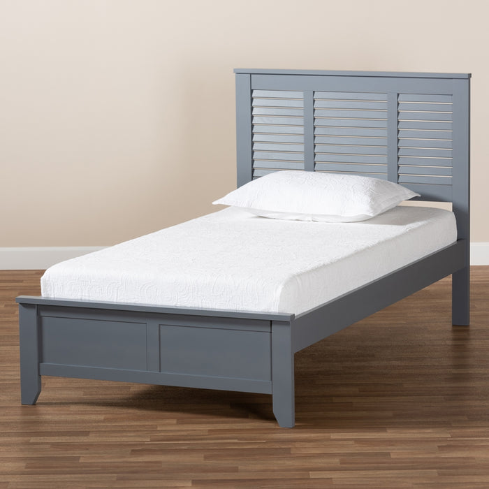 Adela Modern Wood Platform Bed