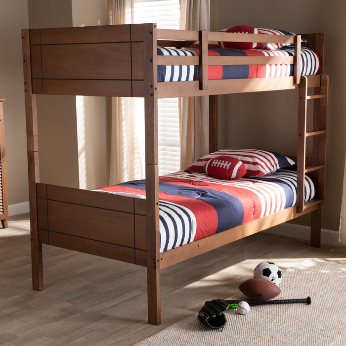 Elsie Contemporary Wood Bunk Bed
