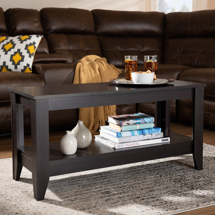 Elada  Modern Wood Coffee Table
