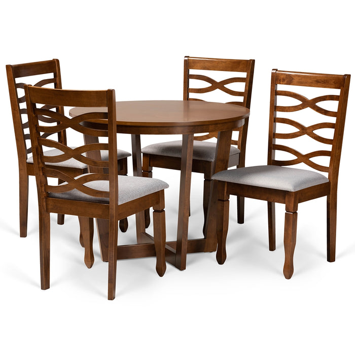 Alicia Modern Wood 5-Piece Dining Set
