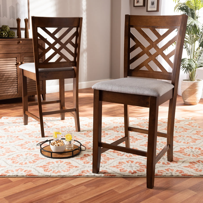 Caron Contemporary (Set of 2) Wood Counter Stool
