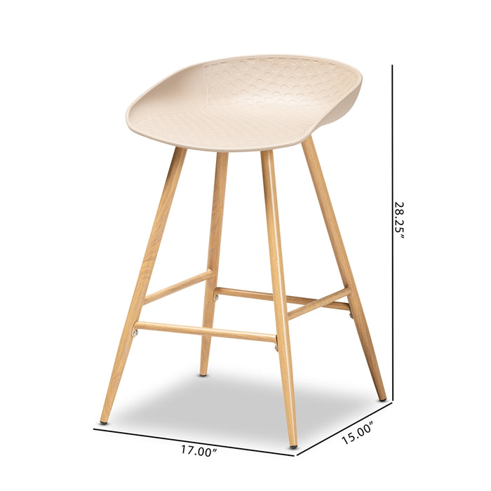 Mairi Modern (Set of 2) Wood Counter Stools
