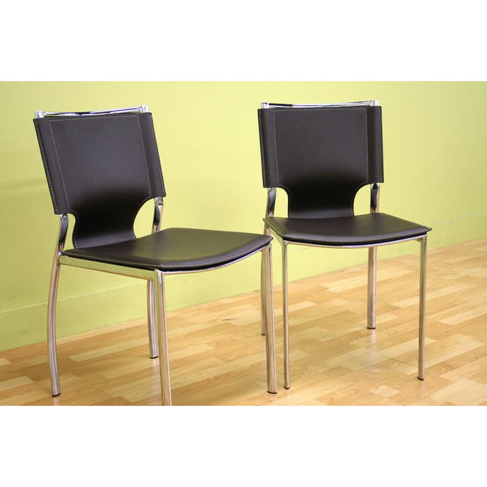 Dark Two (2) Dining Chairs