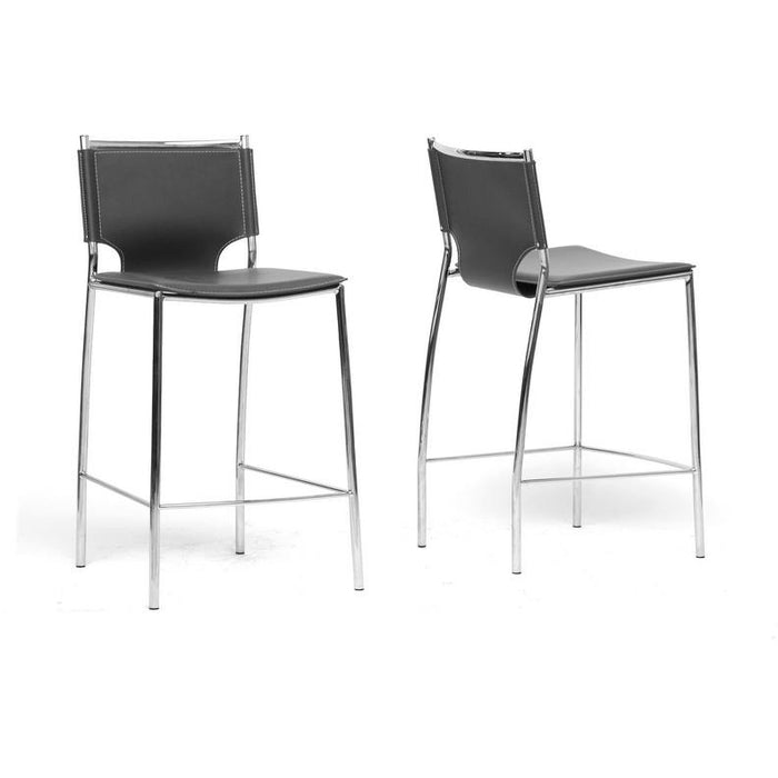 Montclare Modern (Set of 2) Leather Counter Stools