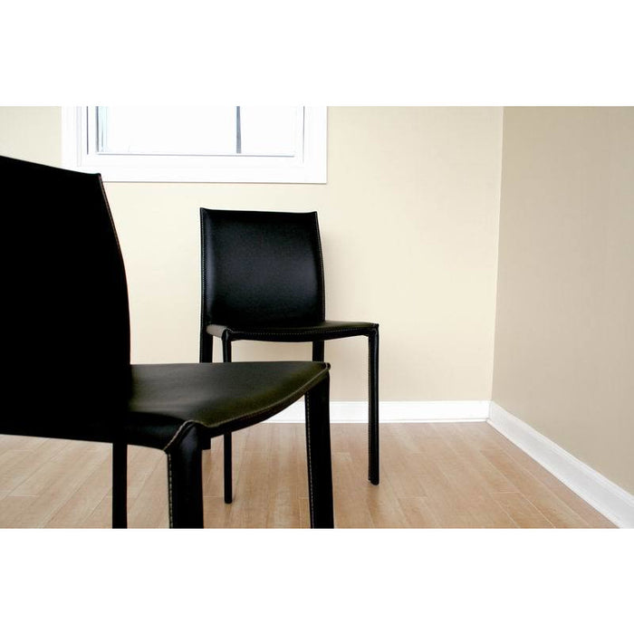 Black Two (2) Dining Chairs