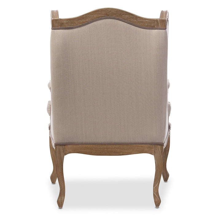 Oreille French Inspired Wood Armchair