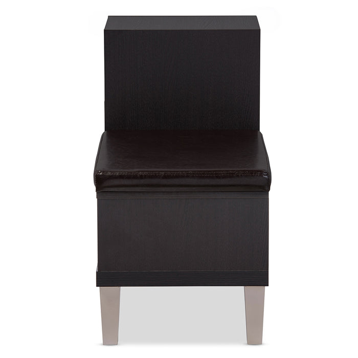 Arielle Contemporary (3-Drawer) Leather Seating Bench