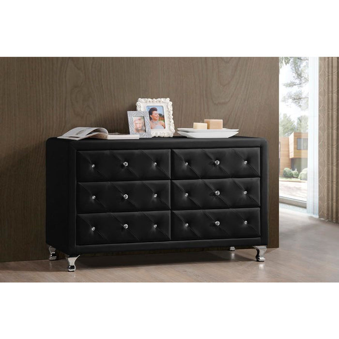 Luminescence Contemporary (6-Drawers) Leather Dresser