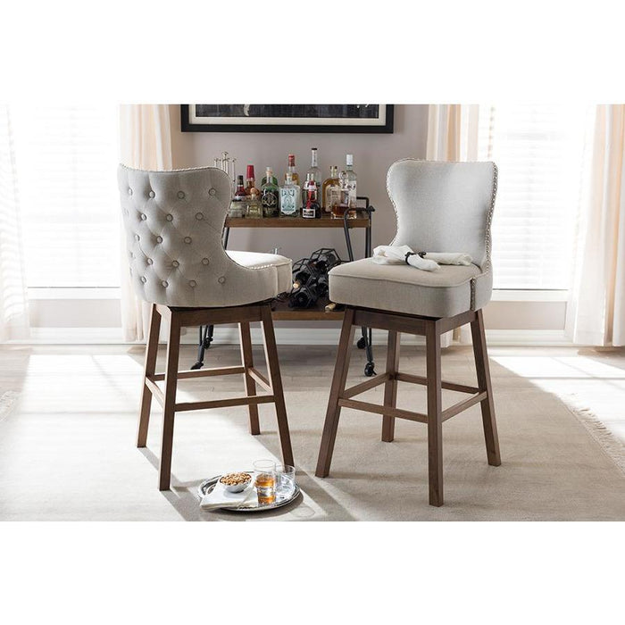 Gradisca Contemporary (Set of 2) Wood Bar Stools