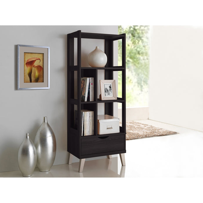 Kalien Bookshelve & Display 1-Drawer