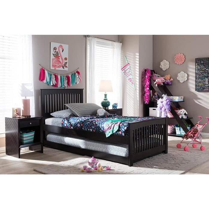 Hevea Contemporary Wood Trundle Bed