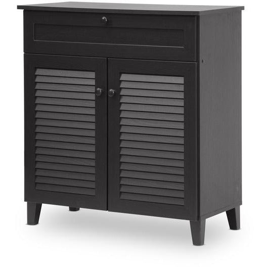 Calvin Contemporary Wood Shoe Cabinet
