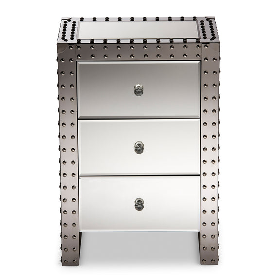 Azura Modern (3-Drawers) Nightstand