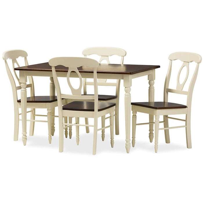 Napoleon French Country Cottage Wood 5-Piece Dining Set