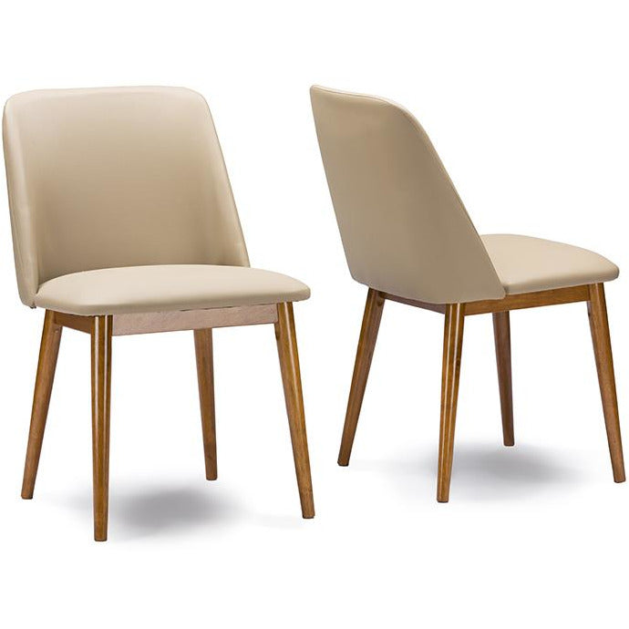 Lavin Mid-Century (Set of 2) Leather Dining Chair