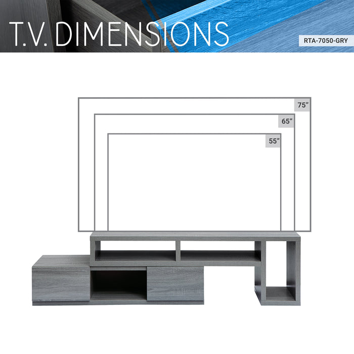 Techni Mobili (2-Drawer) Wood TV Stand