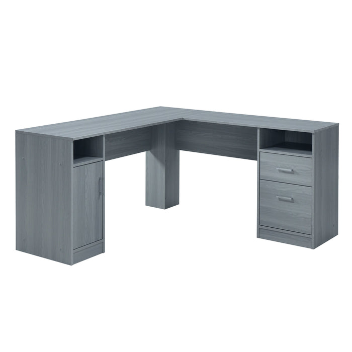 L-Shape Desk with Storage