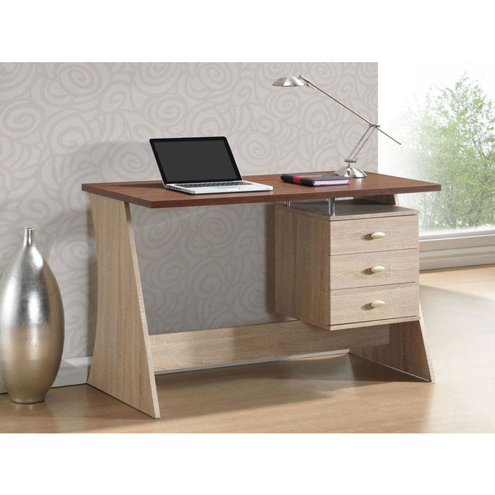 Parallax Contemporary (3-Drawer) Wood Desk