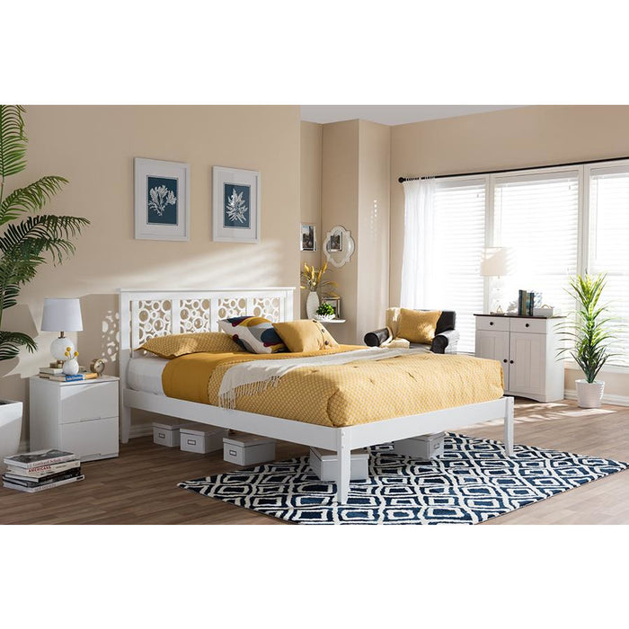 Celine Contemporary Wood Platform Bed
