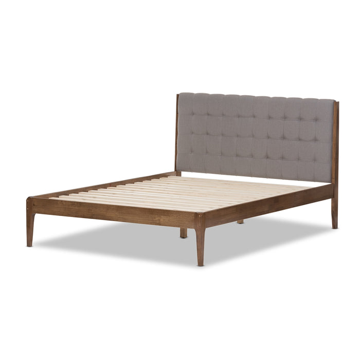Clifford Mid-Century Wood Platform Bed