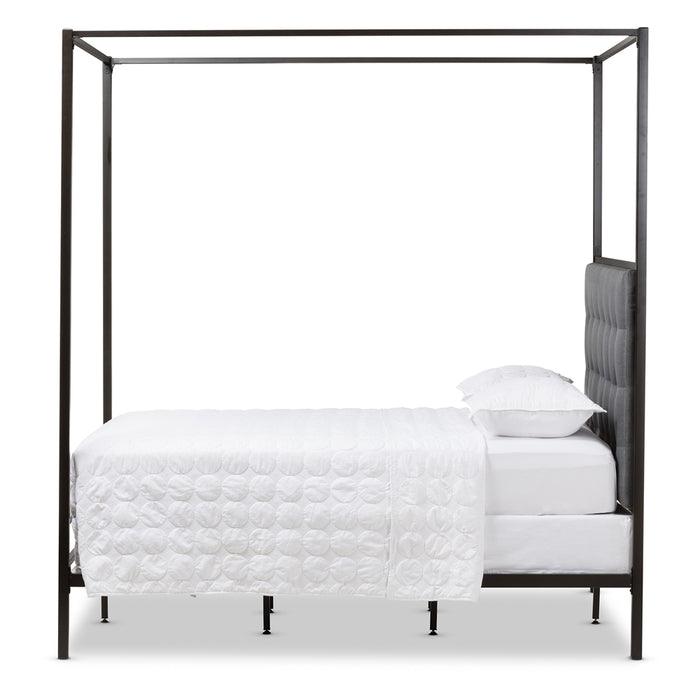Eleanor Vintage Industrial Metal Bed