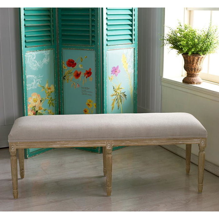 Clairette Traditional Wood French Bench