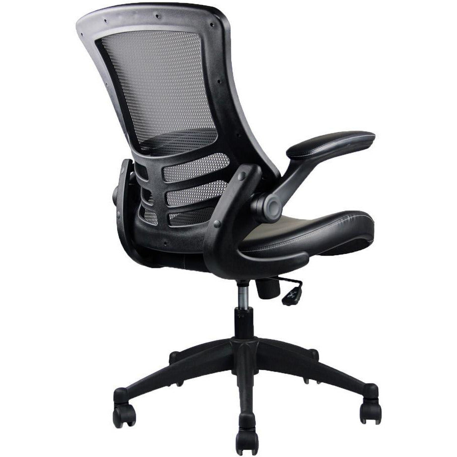 Techni Mobili Stylish Mid Back Mesh Office Chair With Adjustable Arms