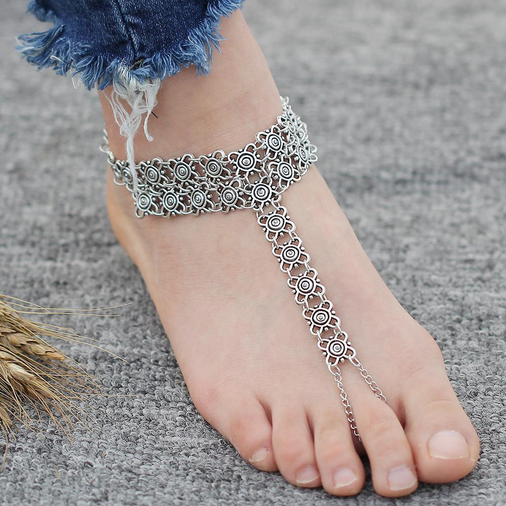 Bohemian Flower Anklet - Wave Essentials