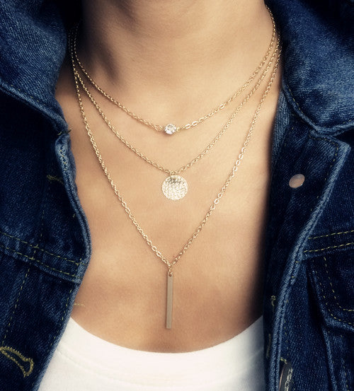 Bohemian Sunny Tri-layer Pendant - Wave Essentials