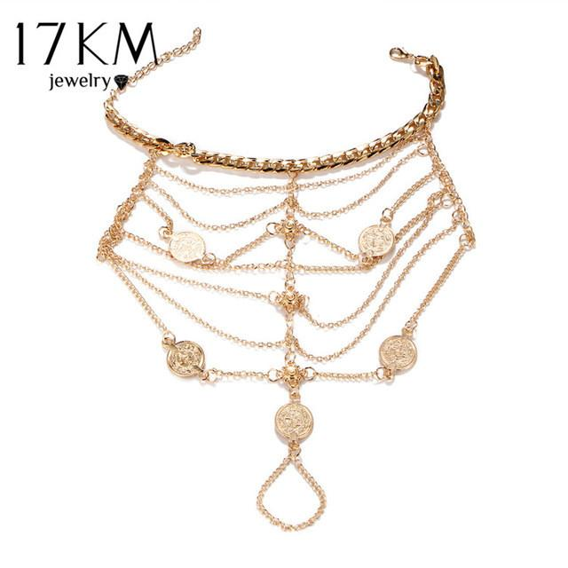 Multi Layer Tassel Coin Pendant Anklet - Wave Essentials