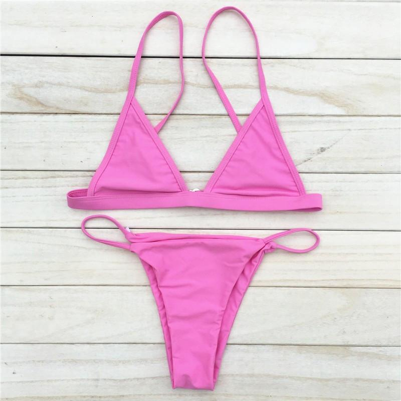 Halter Strap Brazilian Bikini - Wave Essentials