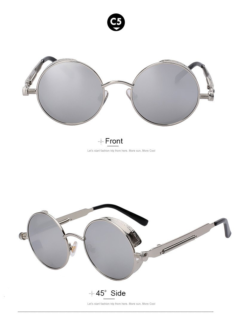 Sophia Retro Round Sunnies - Wave Essentials