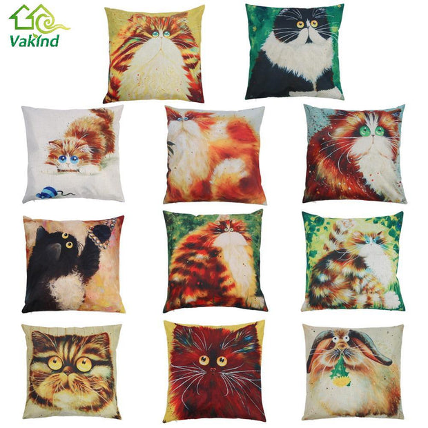 Cartoon Cat Pillow Case - Wave Essentials