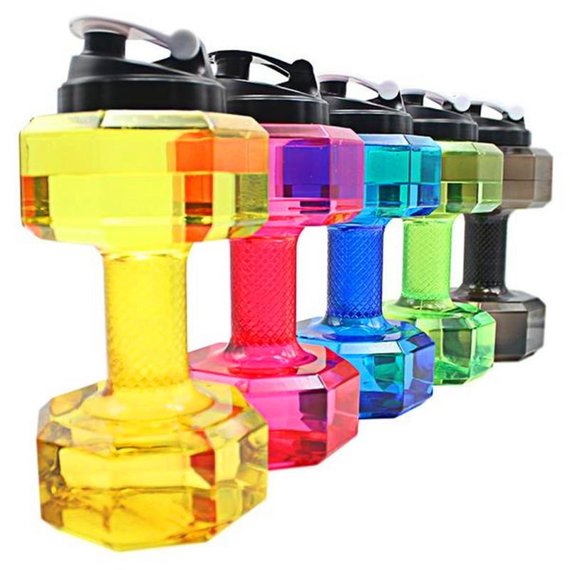 2.2L  Dumbbell Shaped Bpa-Free Plastic Water Bottle - Wave Essentials